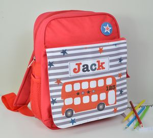 Boy's Personalised Bus Mini Rucksack - children's accessories