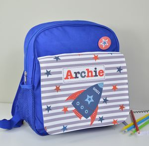 Boy's Personalised Rocket Mini Rucksack - bags, purses & wallets