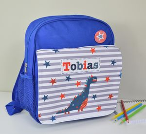 Boy's Personalised Dinosaur Mini Rucksack