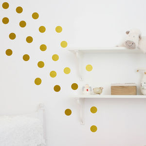 Metal Effect Confetti Dots Wall Stickers - decorative accessories