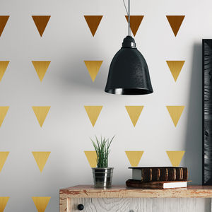 Metal Effect Confetti Triangles Wall Stickers - wall stickers