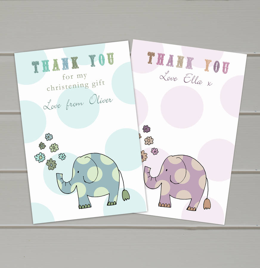 Personalised Baby Thank You Cards By Molly Moo Designs