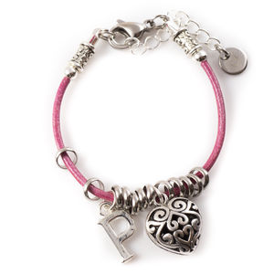 Leather Charm Bracelet - children's jewellery