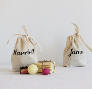 Wedding Place Tags Favour Bags - dining room