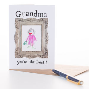 'Grandma You're The Best' Card - last-minute cards & wrap