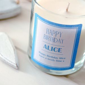 Happy Birthday Personalised Scented Candle - home accessories