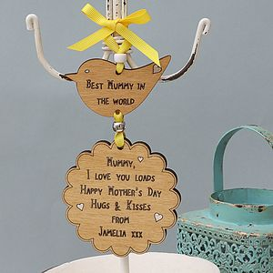 Personalised Mother's Day Keepsake Card Hanger - view all mother's day gifts