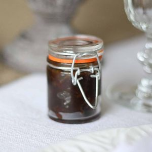 Mini Glass Jar For Jam Chutney Wedding Favours - edible favours