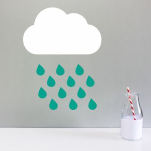Rain Cloud Wall Sticker - wall stickers