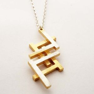 Ruins Fade Away Double Necklace - geometric shapes