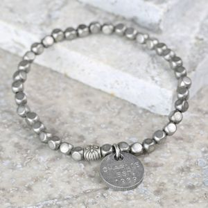 Personalised Men's Antique Beaded Bracelet