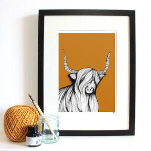 Highland Cow Fine Art Giclée Print - art & pictures