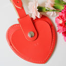 Personalised Heart Shaped Leather Luggage Tag