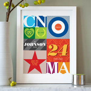 Family Pop Art Personalised Print