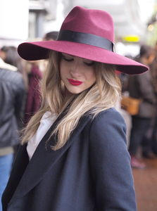 Grande Fedora With Large Brim - womens