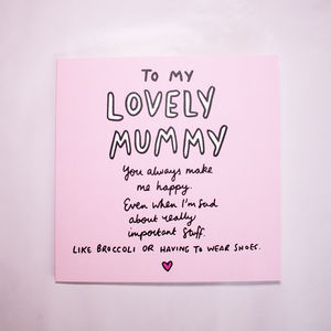 You Cheer Me Up Even About Broccoli Mother's Day Card