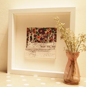 Battersea Power Station With Liberty Print - art & pictures