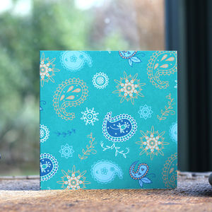 Paisley Pattern Blank Card