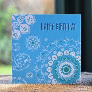 Patterned Birthday Card - birthday cards