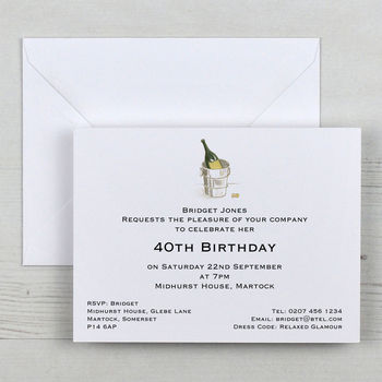 Personalised Invitations And Envelopes