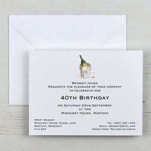 Personalised Invitations And Envelopes - adults party invitations