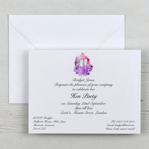 Personalised Hen Invitations And Envelopes