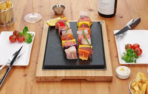 The Steak Sharer Hot Stone Cooking Lava Set - serveware