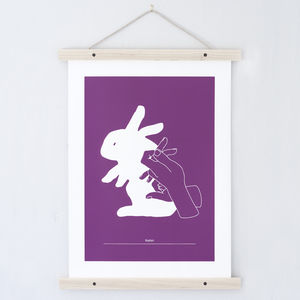 Rabbit Hand Shadow Print. Todd Jarvis Co - animals & wildlife