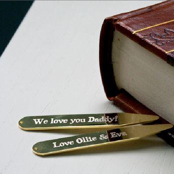 Personalised 'Secret' Message Collar Stiffener