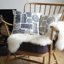 logpile cushions on chair: woodsmoke, silver birch