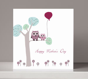 Mother's Day Owl Card