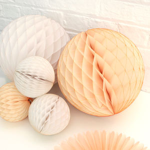 Baby Shower Blush Paper Ball Decoration Collection - baby shower decorations