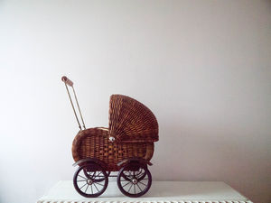 Wicker Doll's Pram - premium toys & games