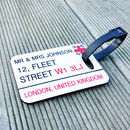 Three Luggage Tags British Street Sign Personalised