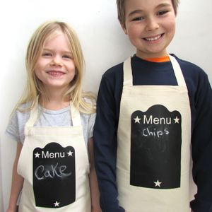 Kids Apron Blackboard Print - for over 5's