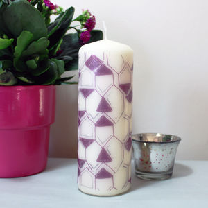 Honeycomb Pattern Candle - candles