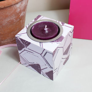 Honeycomb Pattern Tea Light Holder