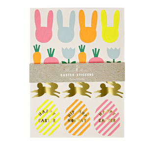 Easter Bunny And Egg Stickers 10 Sheets