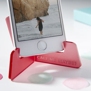 Personalised Song Lyric Phone Stand