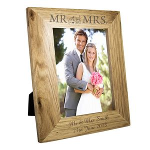 Personalised Mr And Mrs Wedding Picture Frame - albums & keepsakes
