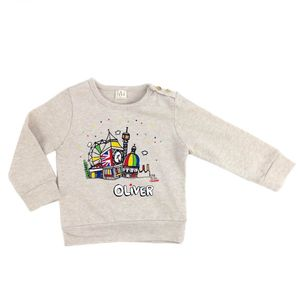 Personalised London Hill Baby Jumper