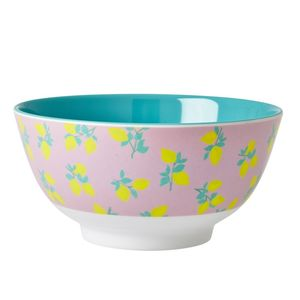 Lemon Print Melamine Bowl