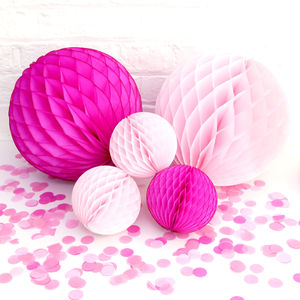 Girl Baby Shower Pink Paper Ball Collection - children's room