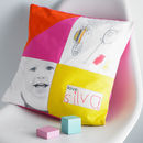 Personalised Photo Children's Drawing Cushion