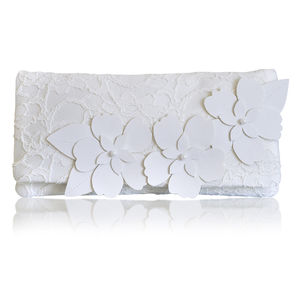 Astor Ivory Lace Clutch