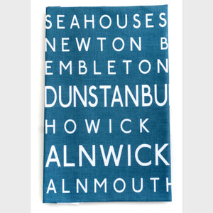 Northumberland Destination Tea Towel - kitchen accessories