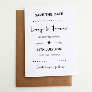 Personalised 'Calligraphy' Save The Date Card - save the date cards