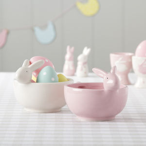 Pink Or White Bunny Bowl