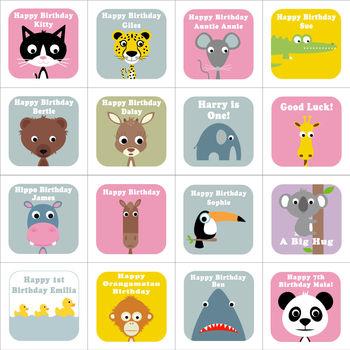 Personalised Wobbly Eyed Animal Cards