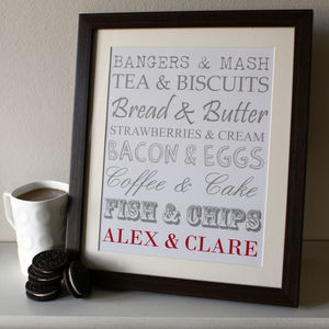 Personalised Couples Typography - posters & prints